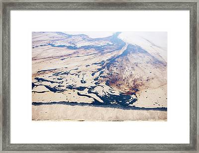 Tailings Pond At Syncrude Mine Framed Print