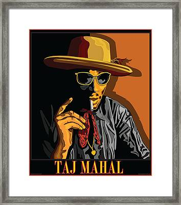 Taj Mahal Framed Print by Larry Butterworth