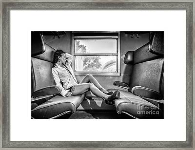 Take A Litte Trip Framed Print