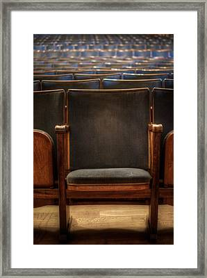 Take A Seat Framed Print by Nathan Wright