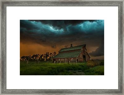 Take Shelter Framed Print by Aaron J Groen