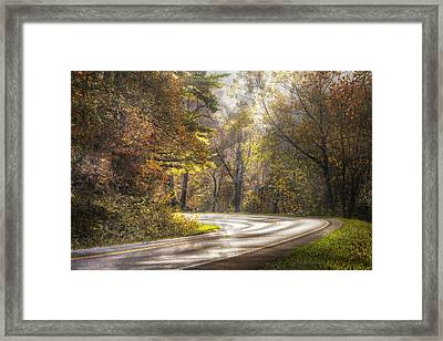 Take The Back Roads Framed Print by Debra and Dave Vanderlaan