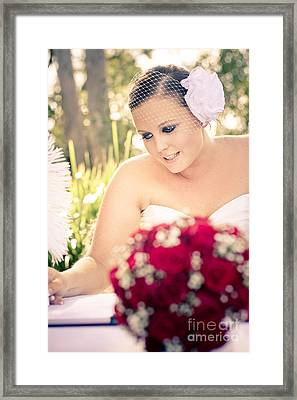 Taking Marriage Seriously Framed Print