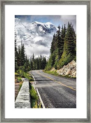 Framed Print featuring the photograph Taking The High Road by Bob Noble Photography