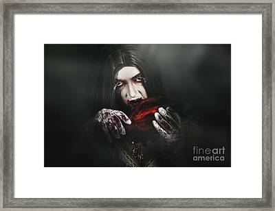 Tales From A Vampires Crypt Framed Print
