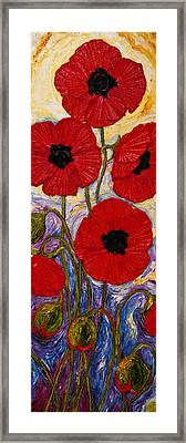 Tall Red Poppies Framed Print by Paris Wyatt Llanso