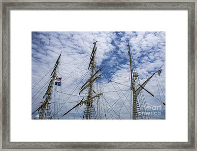 Tall Ship Three Mast  Framed Print by Dale Powell
