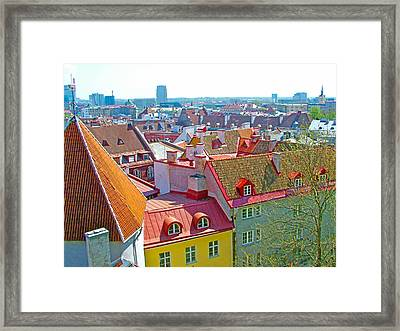 Tallinn From Plaza In Upper Old Town-estonia Framed Print by Ruth Hager