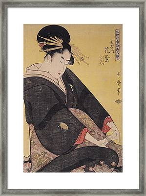 Tamaya Uchi Hanamurasaki, Sekiya, Teriha = Hanamurasaki Framed Print by Artokoloro