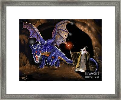 Taming The Beast Framed Print by Rick Mittelstedt