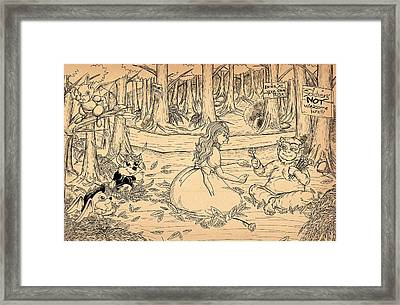 Framed Print featuring the drawing Tammy And The Baby Hoargg by Reynold Jay