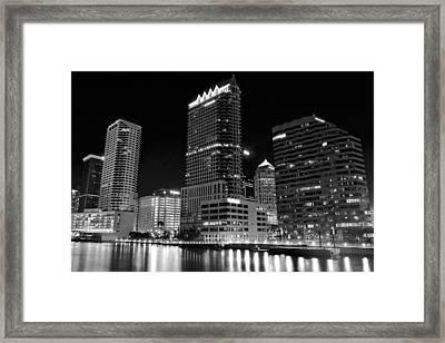 Tampa Black And White  Framed Print