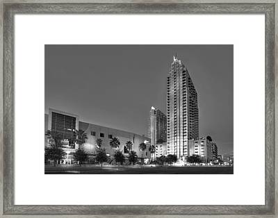 Tampa Skyline Framed Print by Marvin Spates
