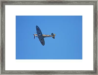 Tandem Supermarine Spitfire Trainer  - Framed Print