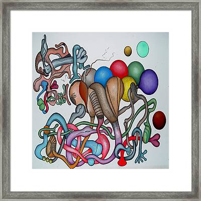 #1 Tangled Series Framed Print by George Curington