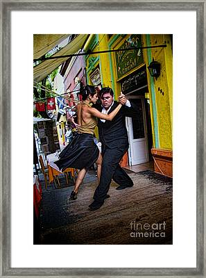 Tango Dancing In Buenos Aires Argentina Framed Print
