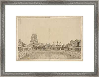 Tank In The Shiva Temple Framed Print by British Library
