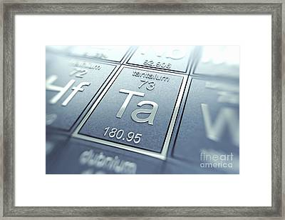 Tantalum Chemical Element Framed Print by Science Picture Co