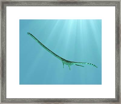 Tanystropheus Prehistoric Marine Reptile Framed Print
