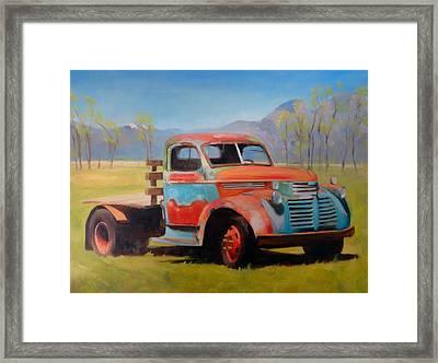 Taos Truck Framed Print