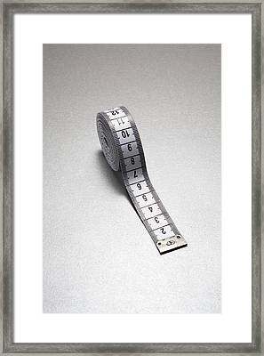 Tape Measure Framed Print by Gary Smith/science Photo Library