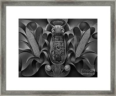 Tapestry Of Gods - Chicomecoatl Framed Print by Ricardo Chavez-Mendez