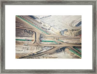 Tar Sands Framed Print by Ashley Cooper