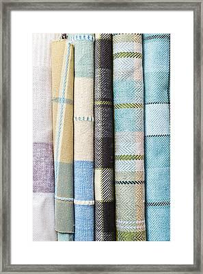 Tartan Fabrics Framed Print