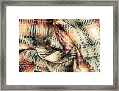 Tartan Scarf Framed Print by Tom Gowanlock