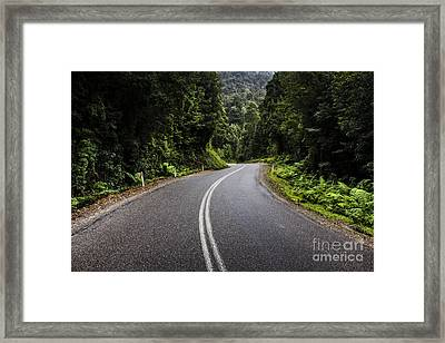 Tasmania West Coast Hinterland Road Landscape Framed Print by Jorgo Photography - Wall Art Gallery