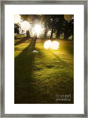 Tasmanian Countryside Landscape. Sun Shower Framed Print by Jorgo Photography - Wall Art Gallery