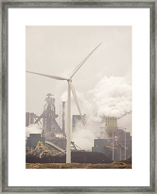 Tata Steel Works Framed Print by Ashley Cooper