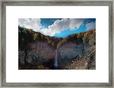 Taughannock Falls Ithaca New York Framed Print by Paul Ge