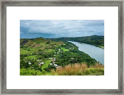 Tavuni Hill Fort Overlooking Framed Print by Michael Runkel