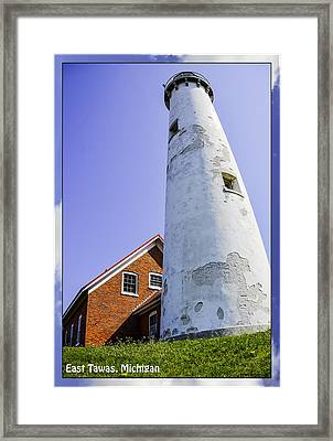 Tawas Point Lighthouse East Tawas Michigan Framed Print