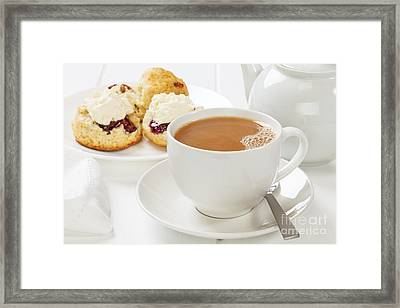 Tea And Scones Framed Print