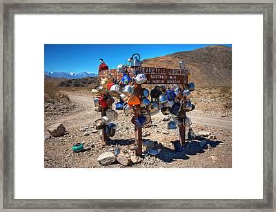 Teakettle Junction New Sign Framed Print