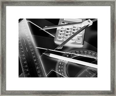 Technical Drawing Equipment Framed Print