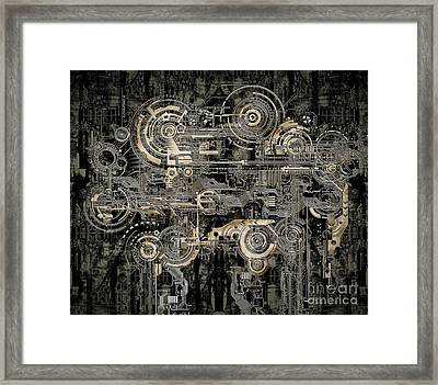 Technically Electronic Background Framed Print by Diuno Ashlee