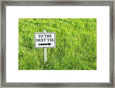 Tee Sign Framed Print by Tom Gowanlock