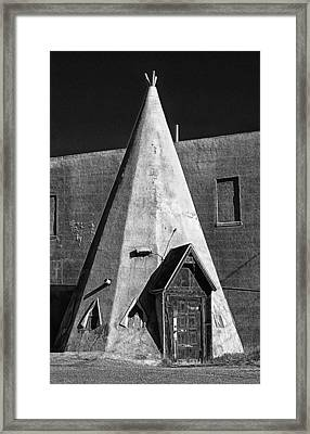 Teepee House Framed Print by Ron Regalado
