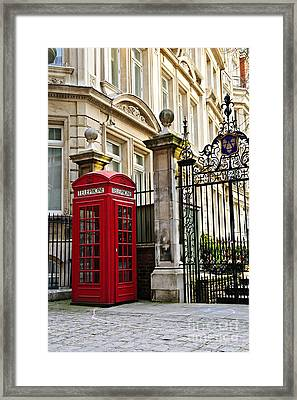 Telephone Box In London Framed Print