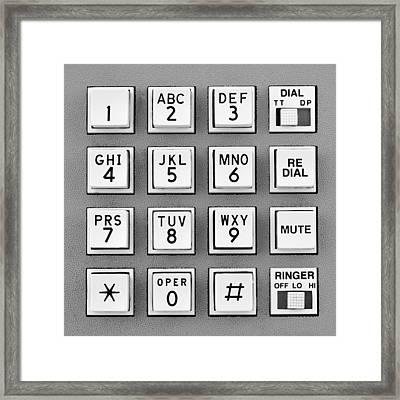 Telephone Touch Tone Keypad Framed Print by Jim Hughes