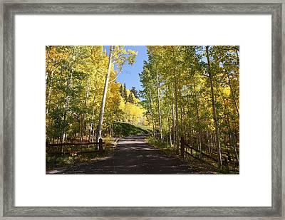 Telluride Colorado Fall Framed Print by Michael J Bauer