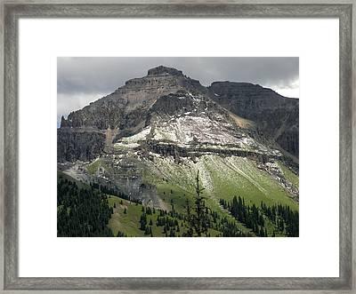 Framed Print featuring the photograph Telluride Summer Hail Storm by Robert Lozen