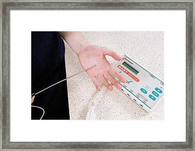 Temperature Probe And Data Logger Framed Print