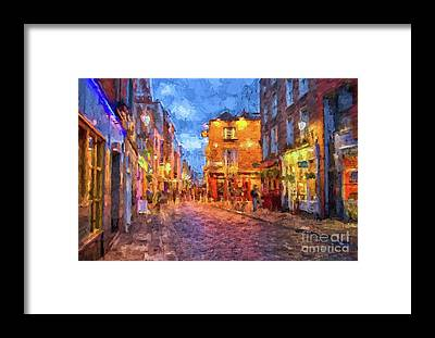 Temple Bar Framed Prints