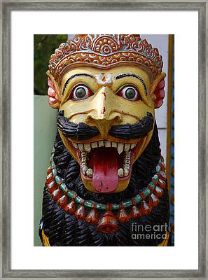 Temple Lion Statue In Orissa India Framed Print by Robert Preston