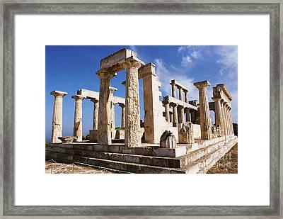 Temple Of Aphaia On Aegina Framed Print