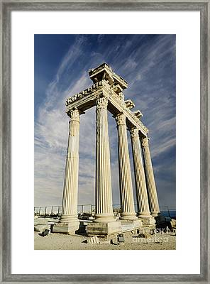 Temple Of Apollo In Side Framed Print by Jelena Jovanovic